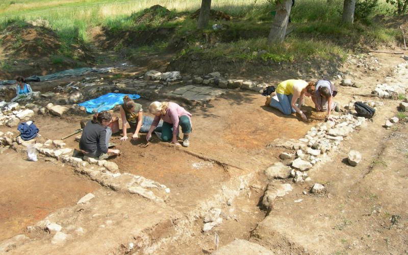 Fouilles archeolo-J sur le site du Lilot (Haillot) en 2009